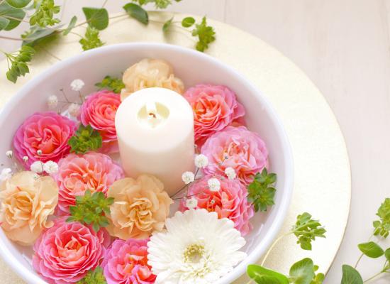 花とキャンドル
